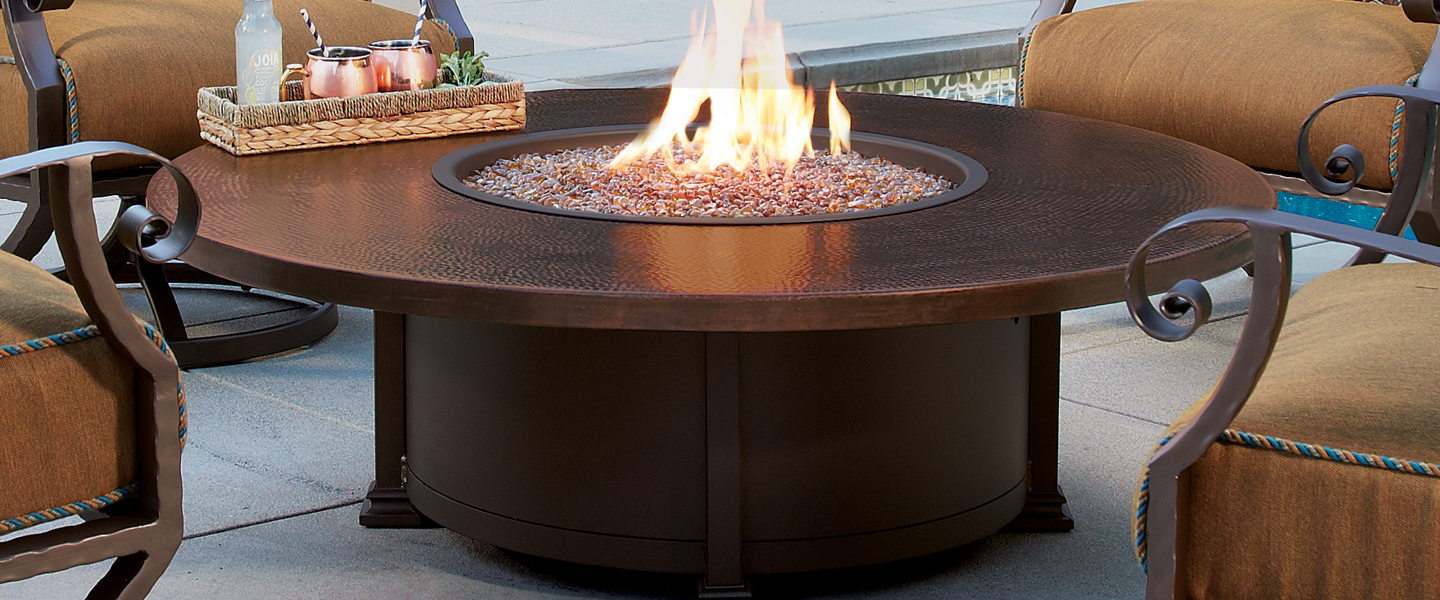 O.W. Lee Hammered Copper Firepits