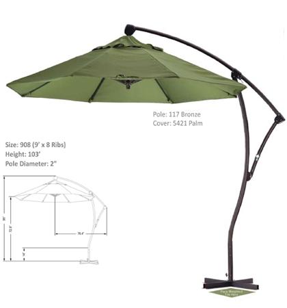 9' Cantilever Crank-Tilt Umbrellas