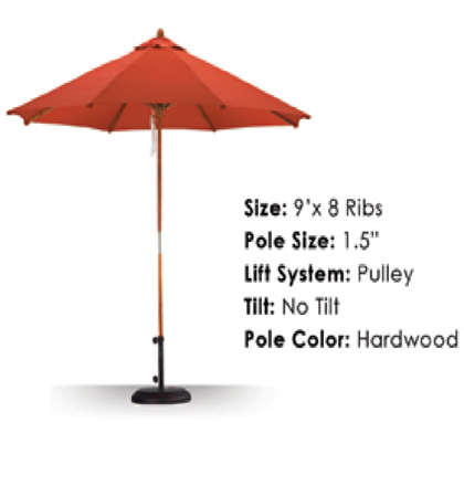 9' Hardwood Pulley-Open Umbrellas