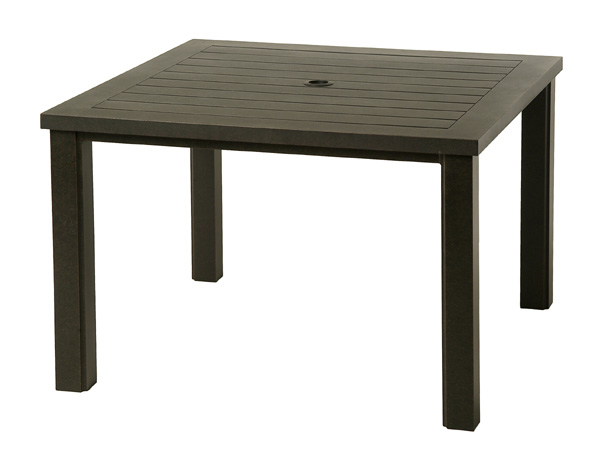 Sherwood 44 Square Slat Table Alu 245644