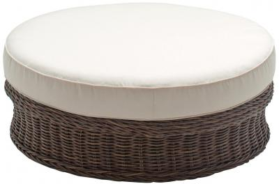 Gloster Havana All Weather Wicker Deep Seating Round Ottoman