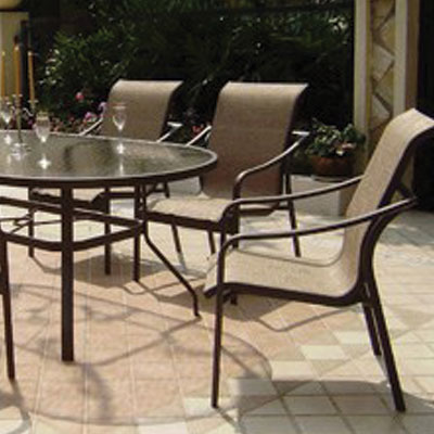 "Weston Dining Set Includes  6-Dining Arm Chairs, 1-76""X42"" Oval Glass Table"