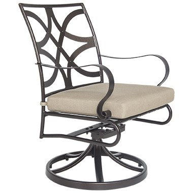 Marquette Swivel Rocker Dining Arm Chair