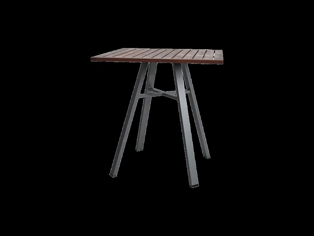 "29"" Square Bistro Table/ Gray w/ Ipe Top"