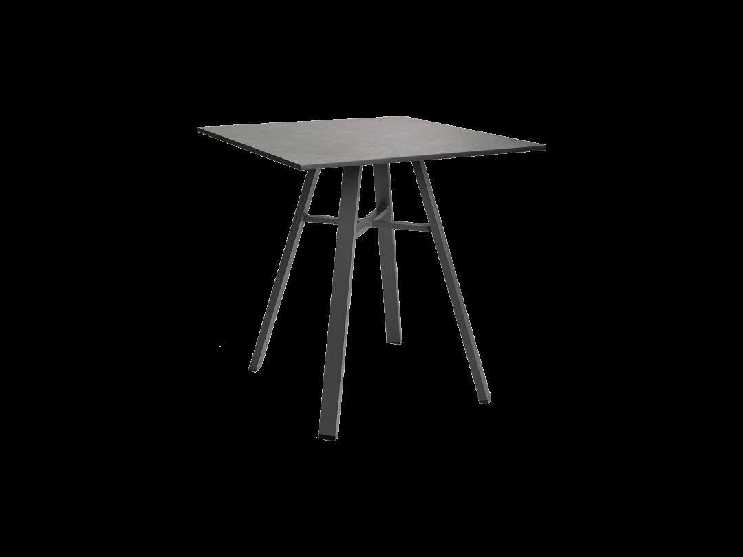 """29"""" Square Bistro Table/ Gray w/ Dark Gray HPL Top"""
