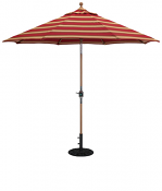 537tk 9' Teak Market Umbrella