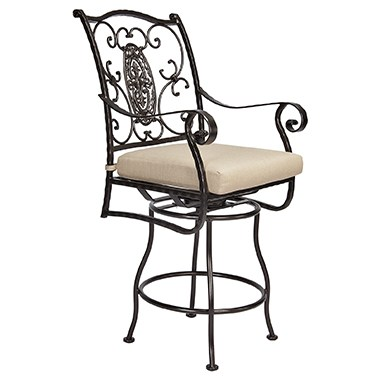 San Cristobal Swivel Counter Stool with Arms