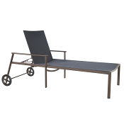 Marin Flex Comfort Adjustable Chaise with Wheels