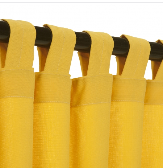 Tab Outdoor Curtains - Canary