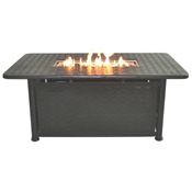 """Atlas 58"""" x 34"""" Rect Chat Height Fire Pit"""