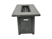 """Concrete 54"""" x 28"""" Chat Height Fire Pit"""