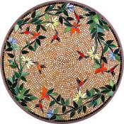 Caramel Hummingbird Classic Mosaic Table Top