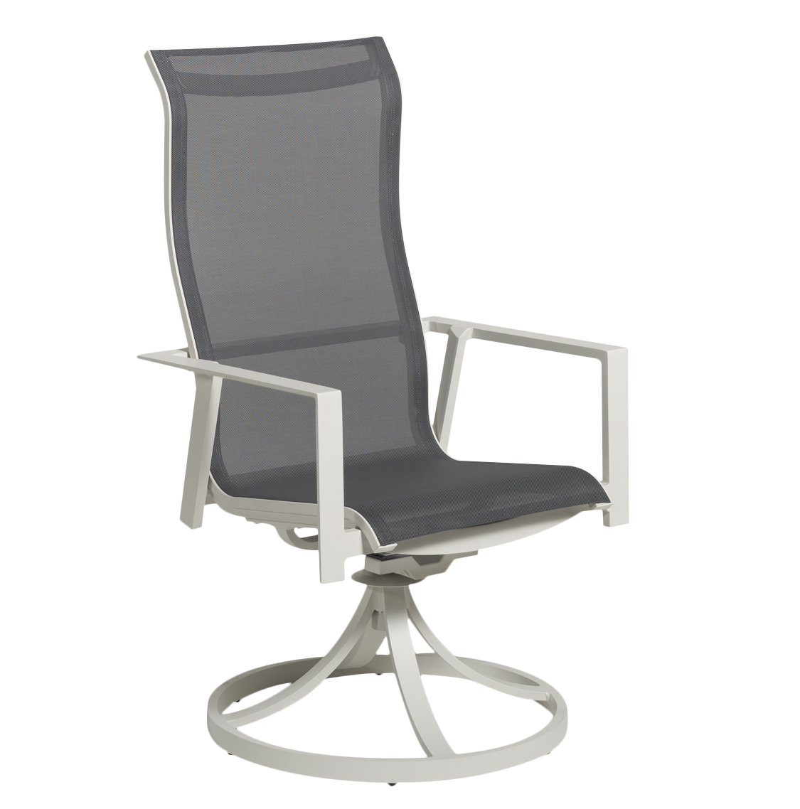 Solana Sling Swivel Rocking Dining Chair
