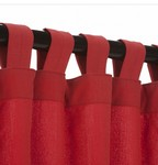 Tab Outdoor Curtains - Cardinal