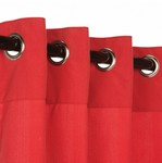 Grommet Outdoor Curtains - Cardinal