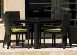 """Cabo 48"""" Sq Dining Table with Umb Hole"""