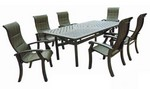 "Chesapeake Sling Set: 6 Sling Dining Chairs, 1- 44"" X 86"" Dining Table"