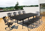 """Dynasty Dining Set: 8-Dining Arm Chairs, 2-Swivel Rockers, 1-86""""-126"""" X 42"""" Cast Ext. Table."""