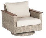 Swivel Lounge Chair/ Natural