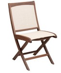 Folding Sling Side Chair/ Brown