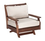 Swivel Rocker Lounge Chair w/ Low Back Cushions