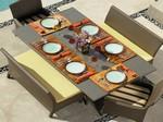 "Malibu 42"" x 72"" Rectangle Dining Table"
