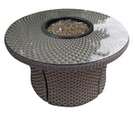 "42"" Rd Standard Woven Base and Woven Top Firepit w/ Glass"