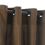 Grommet Outdoor Curtains - Coffee