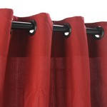 Grommet Outdoor Curtains - Garnet