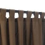 Tab Outdoor Curtains - Coffee