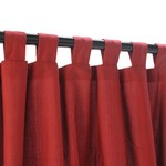 Tab Outdoor Curtains - Garnet