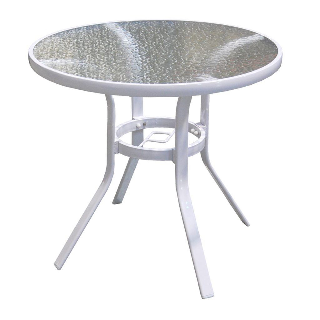 "Capri 30"" Round Table w/ Hole"