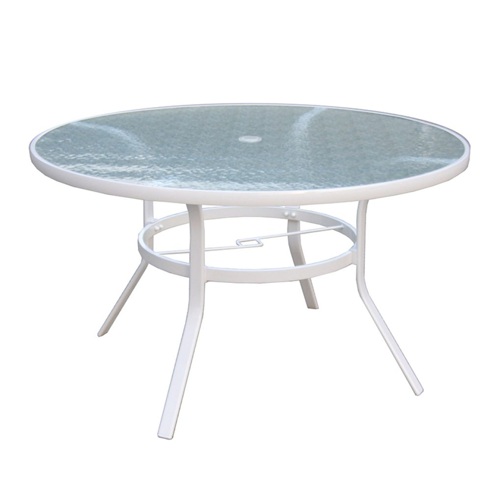 "Capri 48"" Round Table w/ Hole"