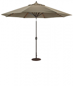 986 11' LED Lights Auto Tilt Umbrella