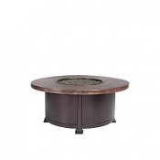 "36"" Occasional Height Hammered Copper Fire Pit"