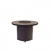 """36"""" Rd. Chat Height Capri Iron Fire Pit"""