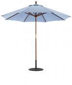 132/232 9' Wood Market Umbrella