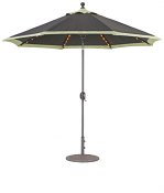 936 9' LED Lights Auto Tilt Umbrella