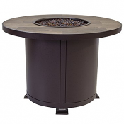 "36"" Rd. Chat Height Vulsini Aluminum Fire Pit"