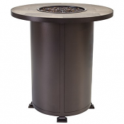 "36"" Rd. Counter Height Vulsini Aluminum Fire Pit"