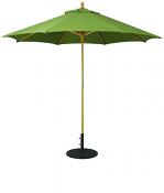 131 9' Wood Market Umbrella