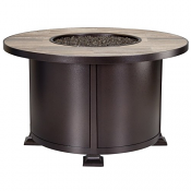 "42"" Rd. Chat Height Vulsini Aluminum Fire Pit"