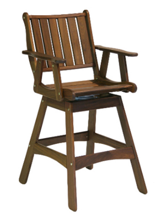Traditional Integra Swivel Hi Dining Chair Jenlei 6281