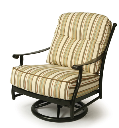 Seville Cushion Spring Swivel Club Chair Mallin Se 886