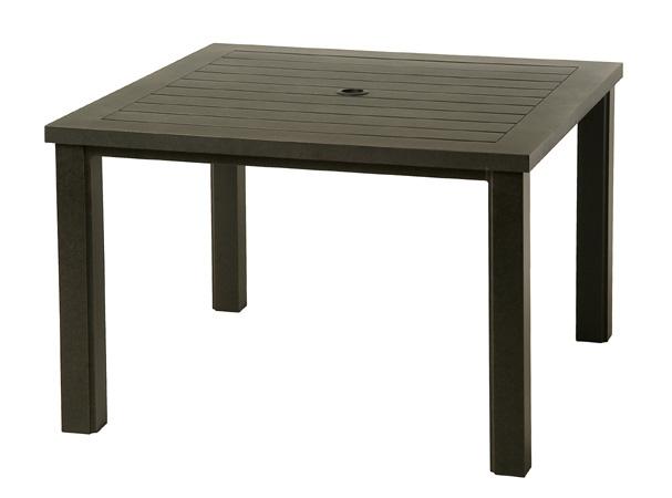 Sherwood 44 square slat table alu 245644 for Alumont outdoor furniture