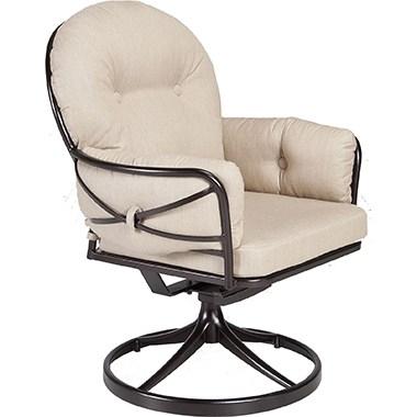 Cambria Swivel Rocker Club Dining Arm Chair