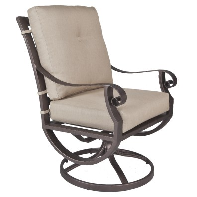 Luna Swivel Rocker Club Dining Arm Chair