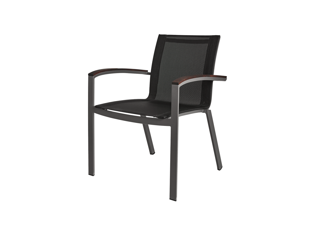Stacking Sling Arm Chair/ Gray