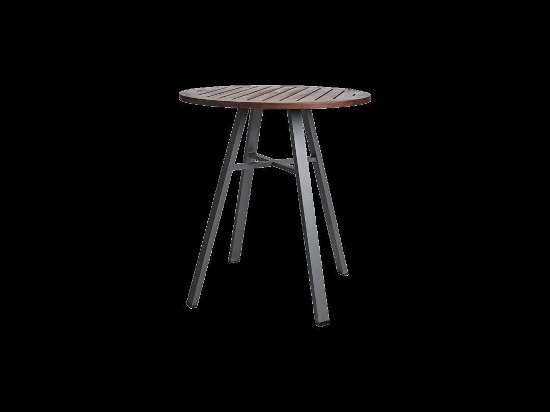"29"" Round Bistro Table/ Gray w/ Ipe Top"