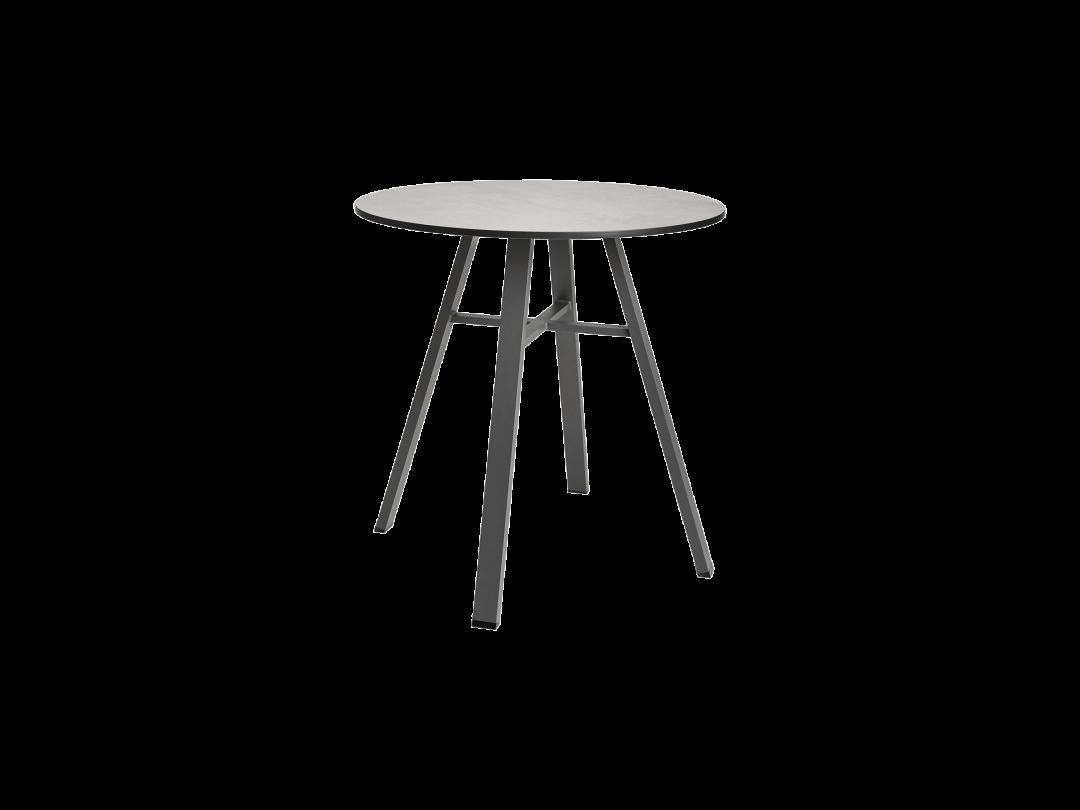 "29"" Round Bistro Table/ Dark Gray HPL Top"